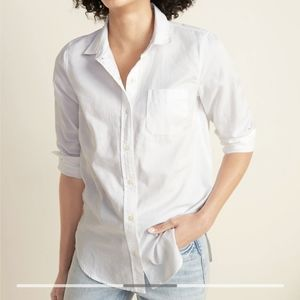 Classic White Button Down - Old Navy